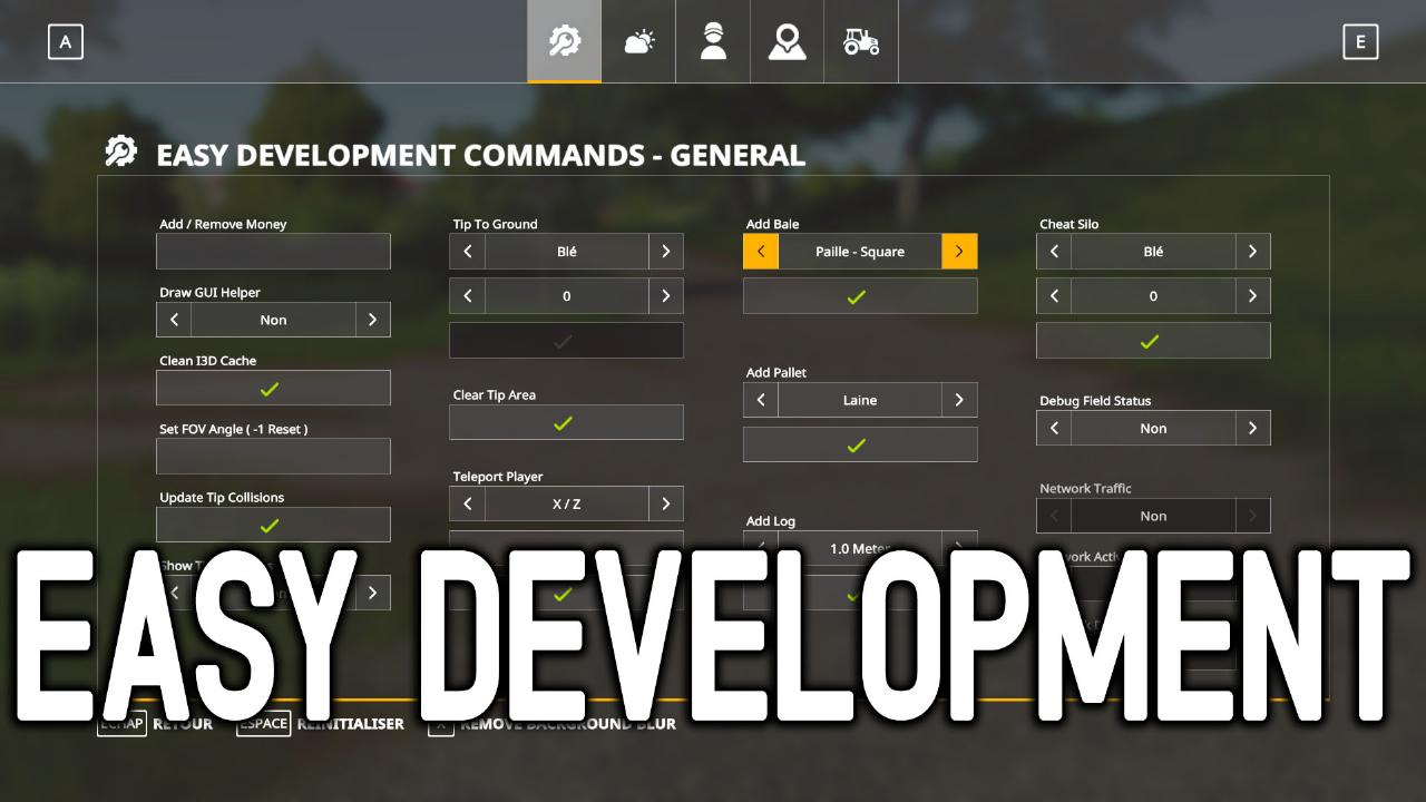 Easy Development Controls
