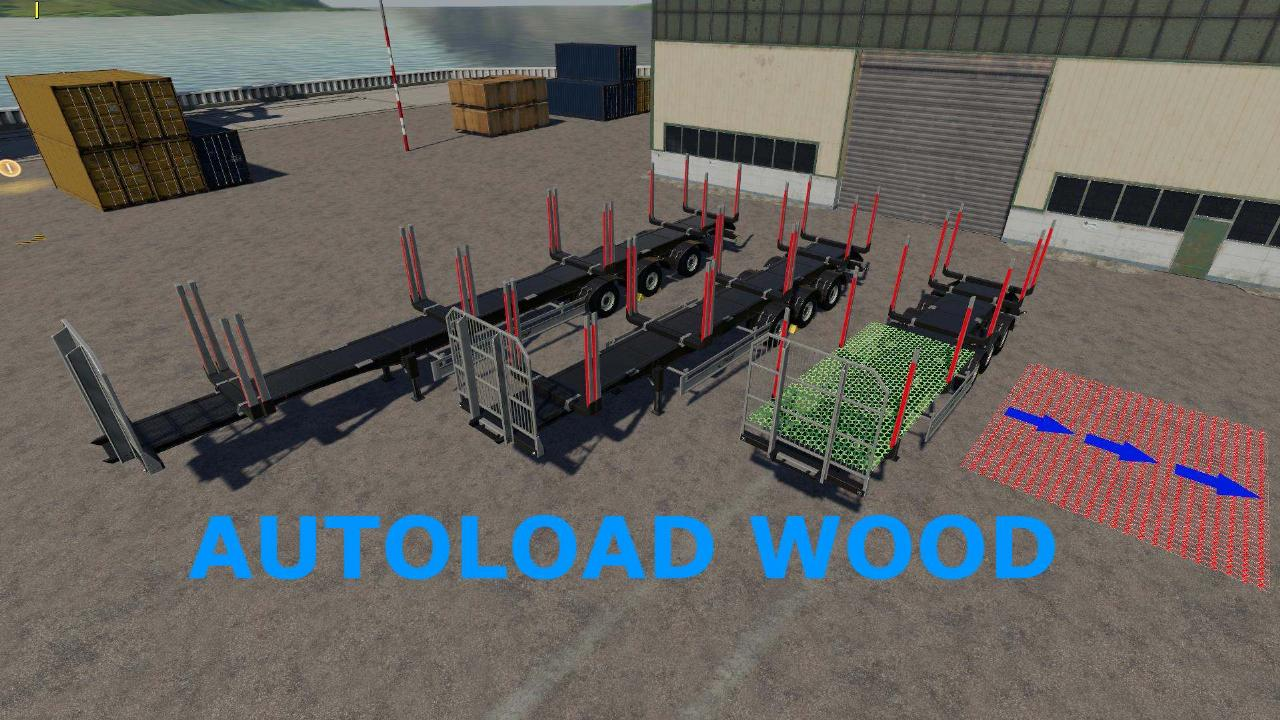Fliegl Timber Runner Wide With Autoload Wood