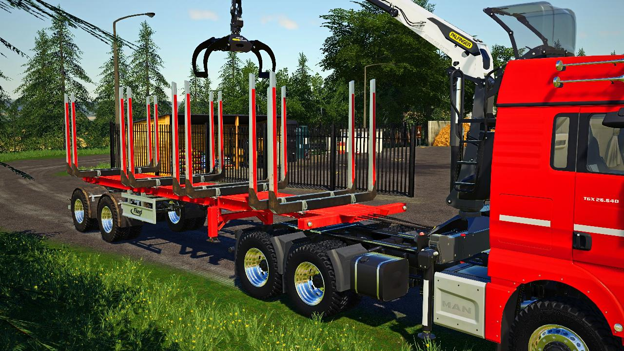 Forestry semi-trailer