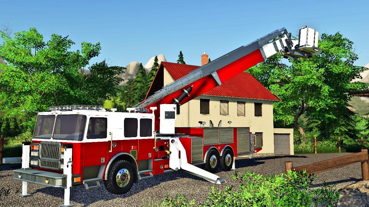 Großes Feuerwehrauto