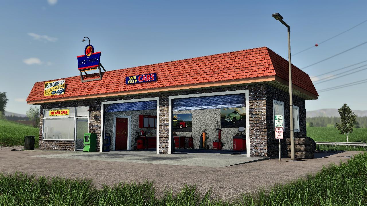 Alte amerikanische Garage