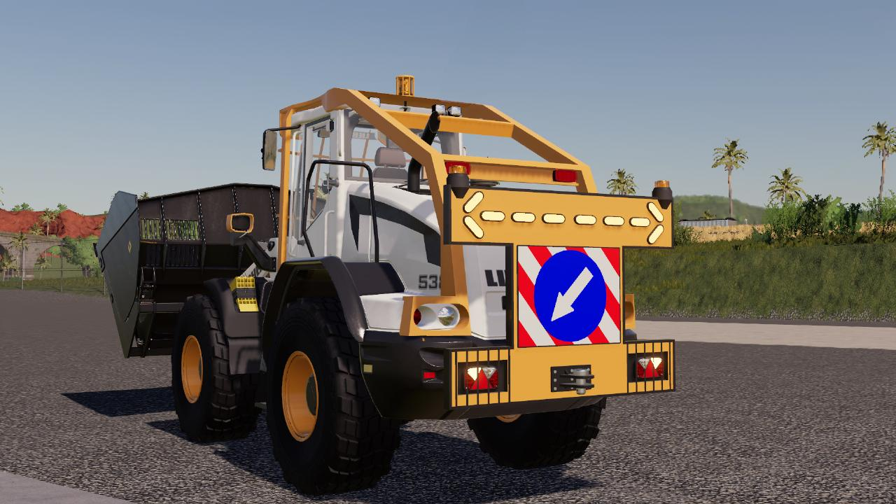 Rear Warning Sign For Wheel Loaders FS19