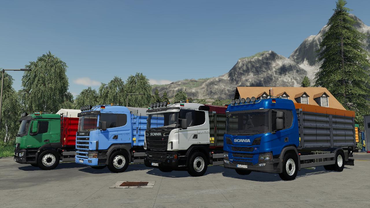 LS19-Scania Next Gen P-Serie Getreide-/Überlader