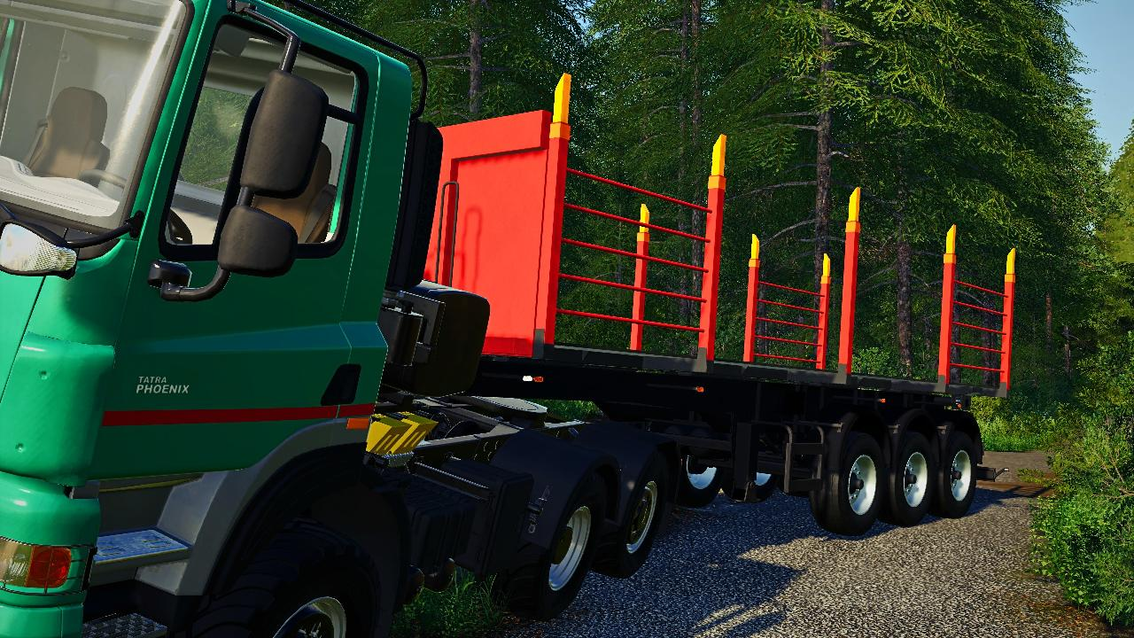 Timber transport semi-trailer