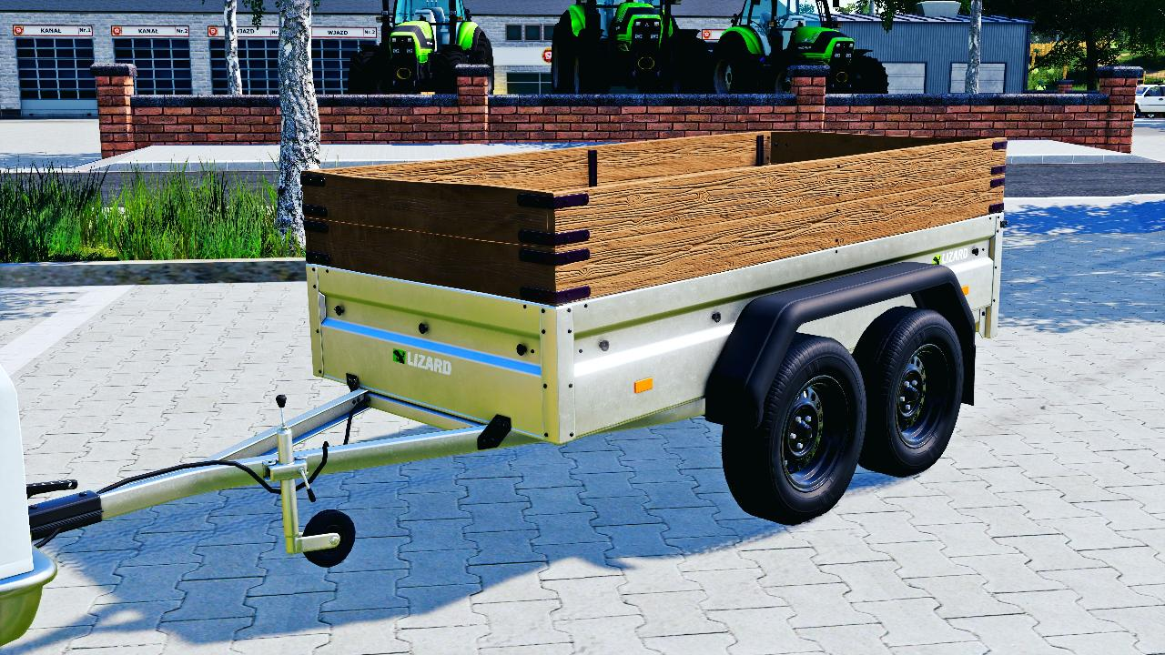 Two axle car trailer