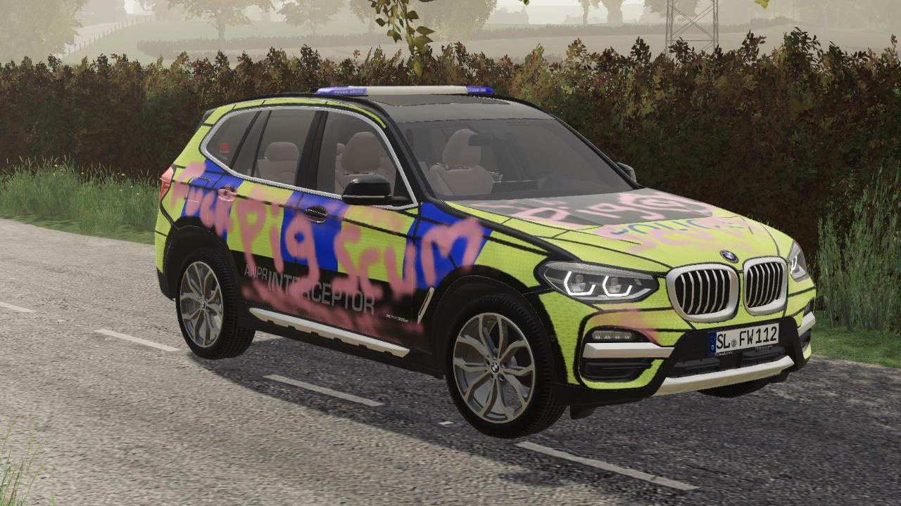 UK BMW police vandalized edition