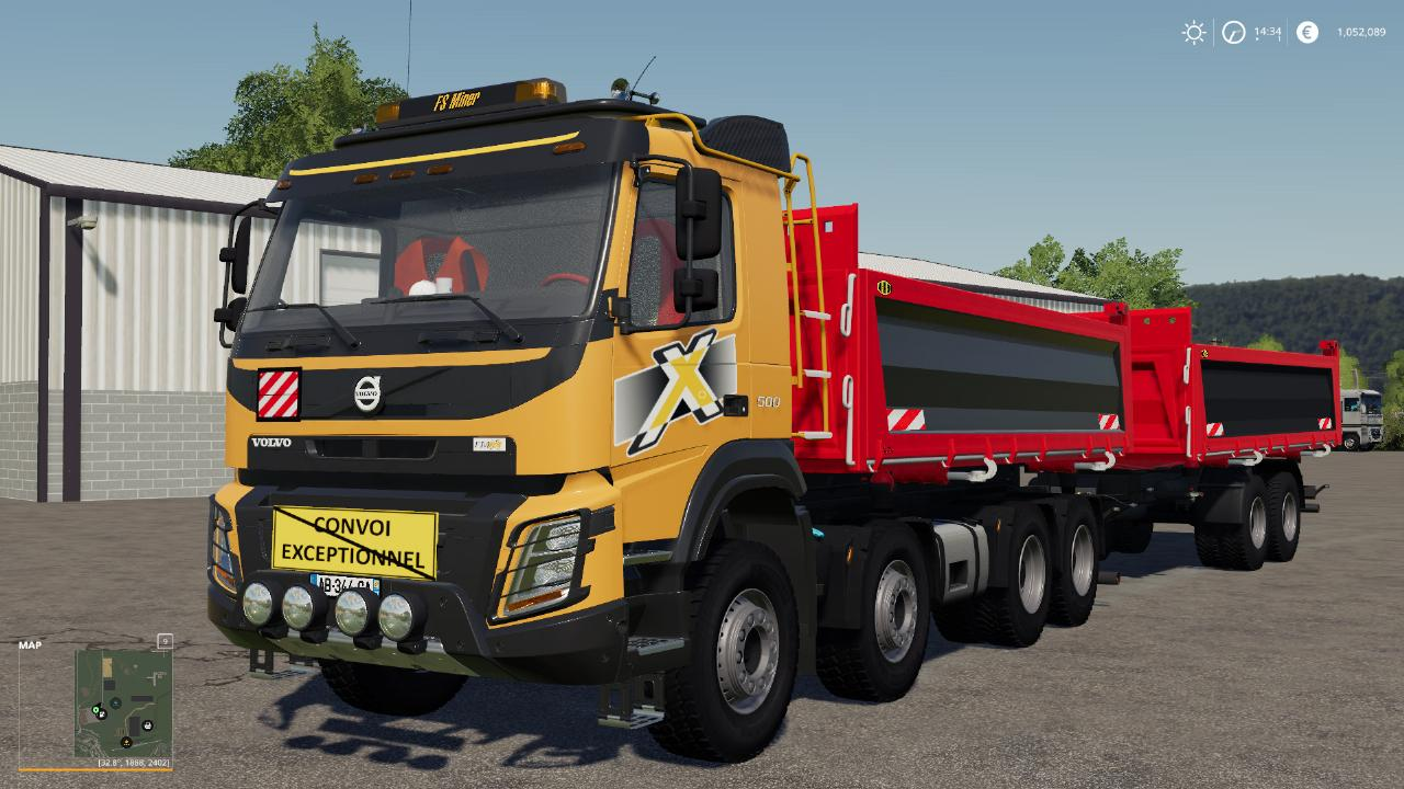 Volvo FMX 8x4 + Meiller Tandem Pack