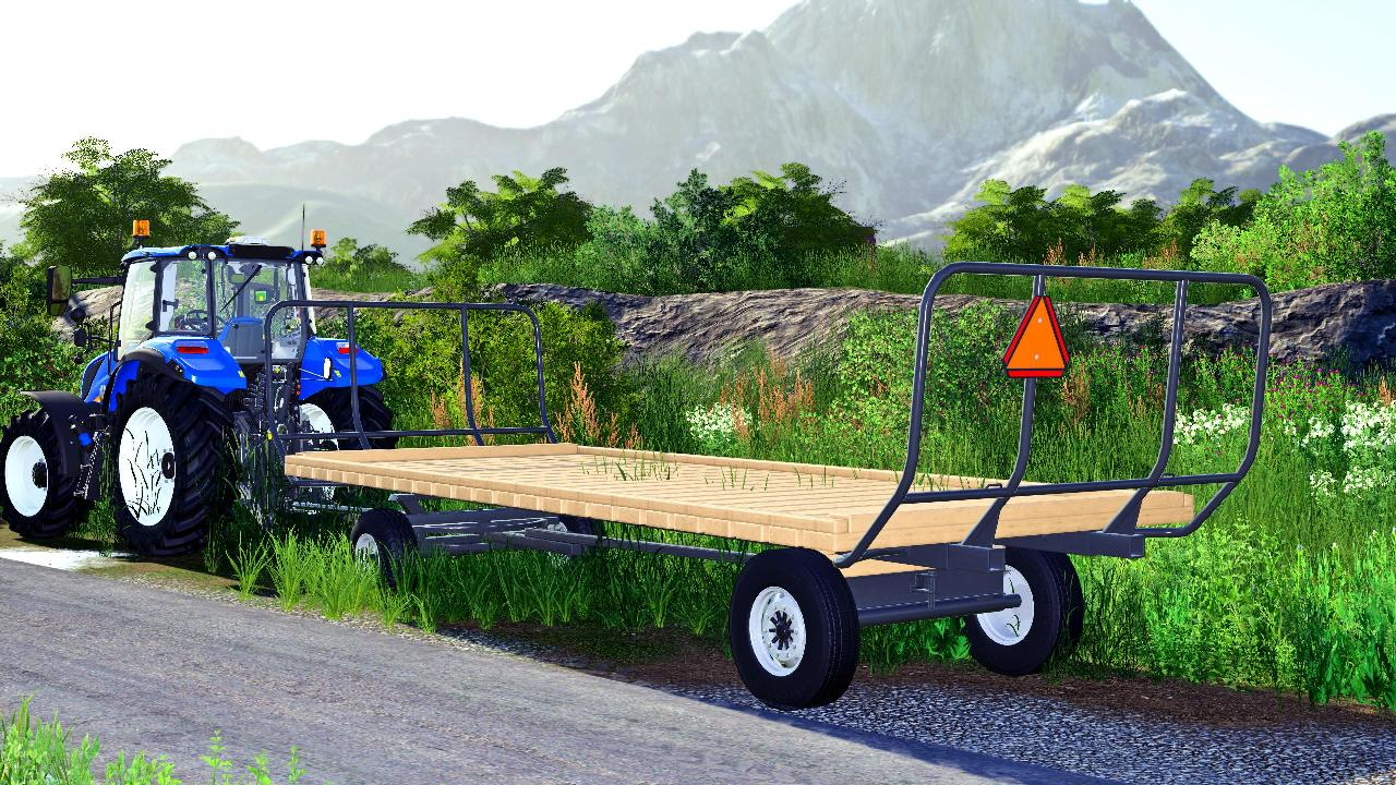 Wooden flatbed FS19