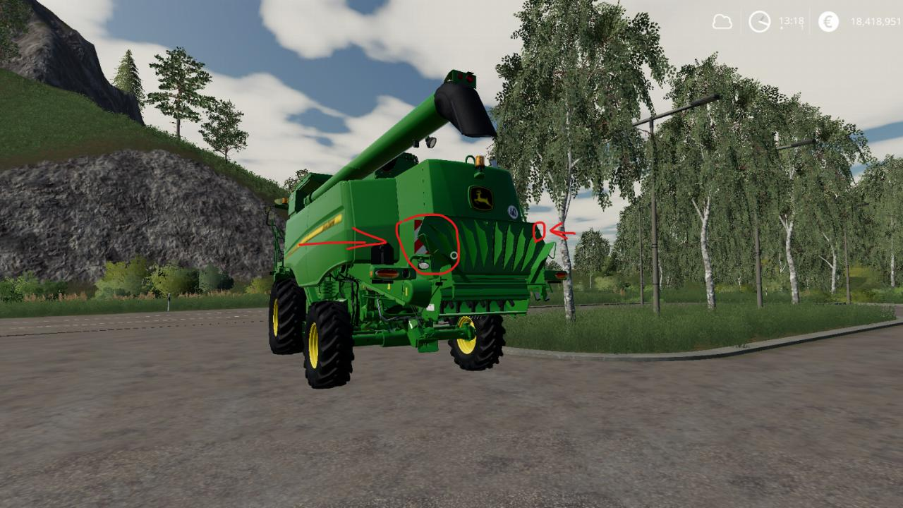 Correction and testing of the John deere T560